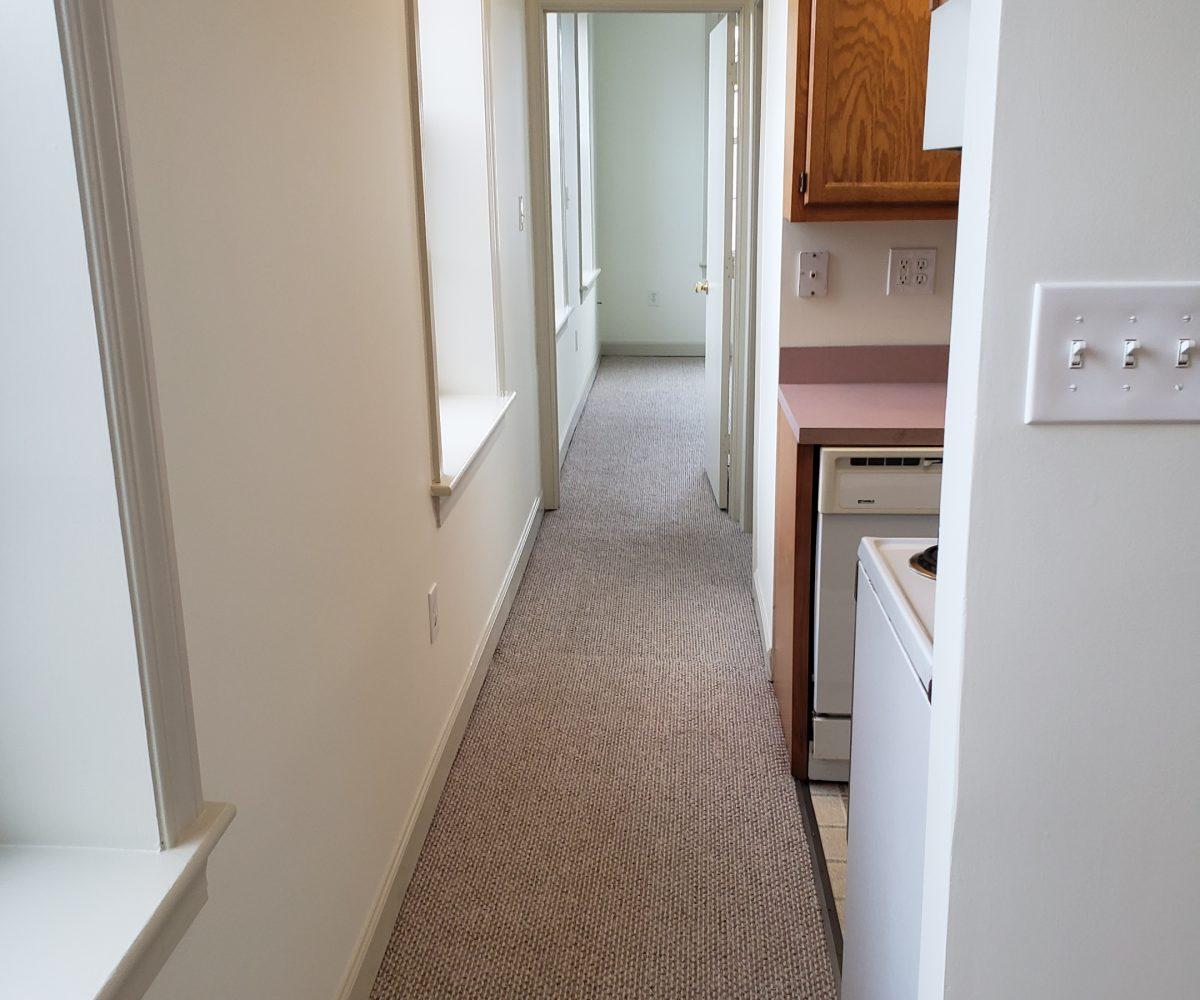 Apt. D - Hallway from living room to bedroom